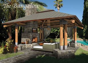 backyard bungalow plans outdoor room designs outdoor living plans custom outdoor spaces