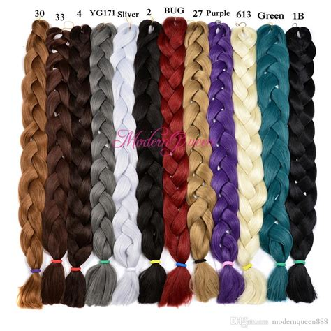hair color chart for braids xpression synthetic braiding hair wholesale cheap 82inch