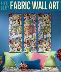 fabric home decor ideas quick easy fabric wall art home decor ideas diyready com easy diy crafts fun projects