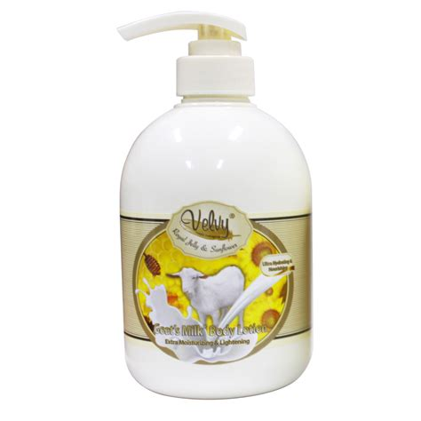 Velvy Lotion 600 Ml Royal Jelly And Sunflower velvy goat s milk s c moist royal jelly sunflower 600ml gogobli
