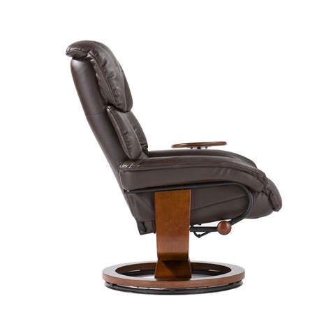 recliner chair swivel base bonded leather birch u base swivel glider oversized