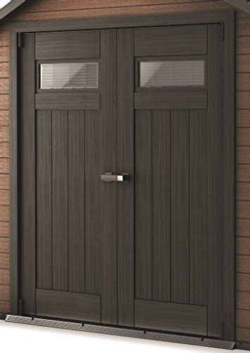 keter fusion large    ft wood plastic outdoor yard