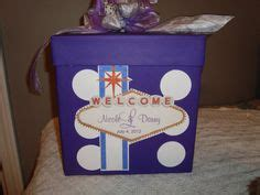 vegas themed wedding card box quot we did it in vegas quot slogan for this gift card money box