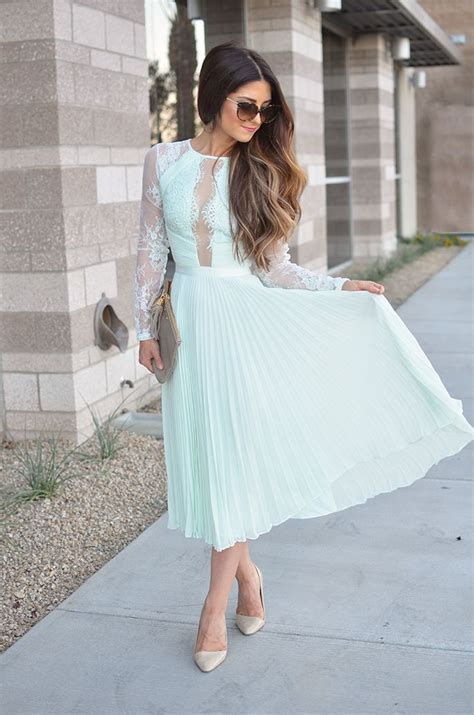 Perfect Wedding Guest Dress   Minty Lace   J Petite