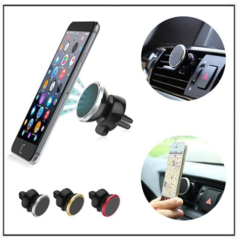 Universal 360 Degree Magnet Car Holder For Smartphone Silver 1 universal 360 degree magnetic car mobile phone holder magnets by hsmag