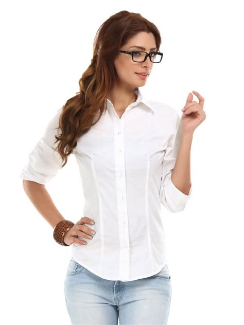White Shirt In White Blouses Black Blouse