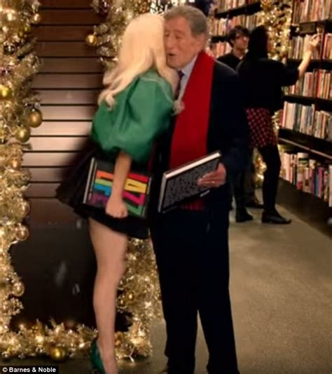 commercial lady gaga barnes and noble lady gaga bumps into tony bennett at barnes and noble in