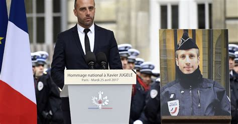xavier jugele paris attack policemans partners speech