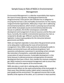 Sample Essay On Education Sample Essay On Role Of Ng Os In Environmental Management