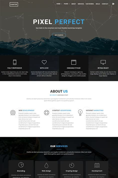 kanter creative responsive minimalistic html website template