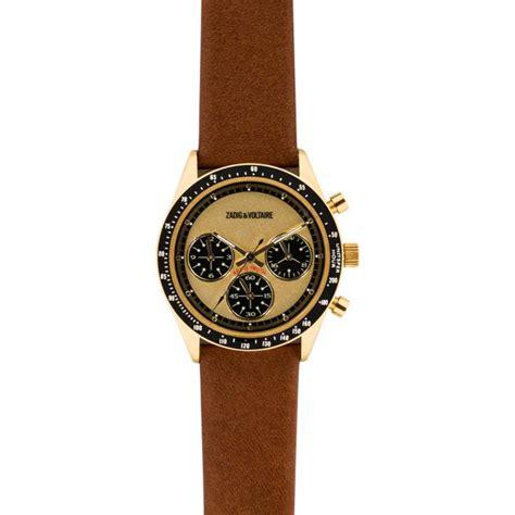 montre zadig et voltaire master zvm116 montre marron cuir femme sur bijourama montre femme