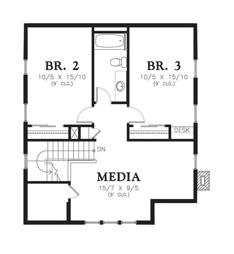 media room floor plans mascord house plan 21115 the osprey