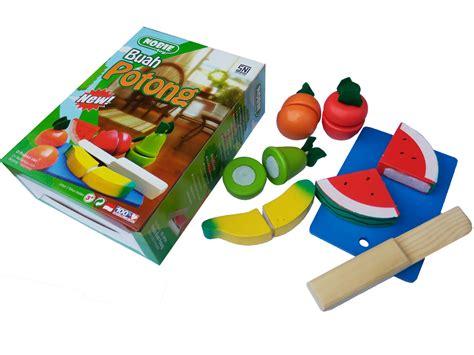 Mainan Kayu Potong nobie buah potong seri mainan kayu