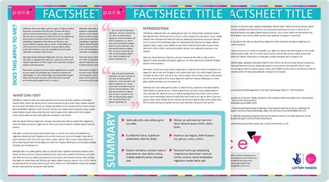 health fact sheet template bias design portfolio 187 factsheet template