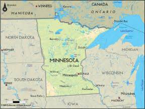 In Mn Geographical Map Of Minnesota And Minnesota Geographical Maps