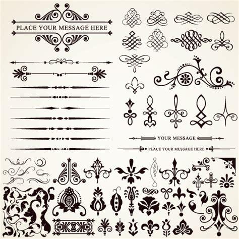 sewing borders design elements vector ornaments elements vector border graphic 04 vector