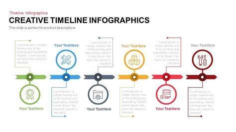 Creative Infographics Timeline Powerpoint Template Keynote Slide Slidebazaar Creative Powerpoint Templates For Mac