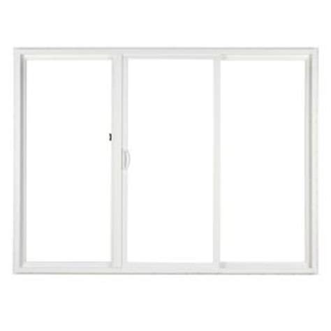Home Depot Sliding Glass Patio Doors Simonton 120 In X 80 In 3 Panel Contemporary Vinyl Sliding Patio Door With Prosolar Low E