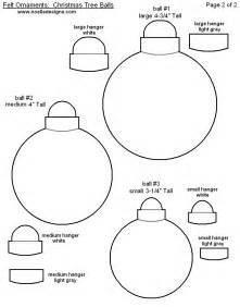 free printable christmas ornament templates felt sew