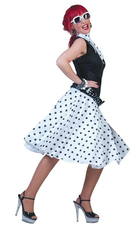 Rok Skirt Polkadot polka dot skirt scarf rock n roll 50s 60s fancy dress costume ebay