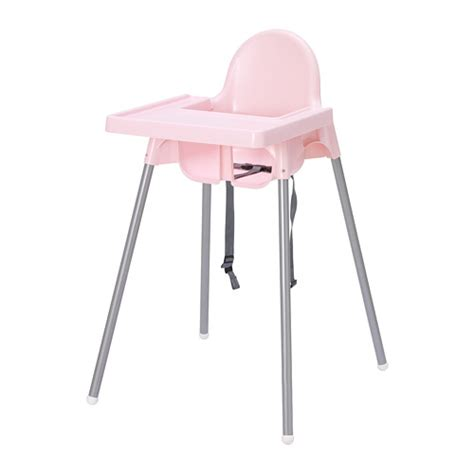 Ikea Antilop antilop highchair with tray pink silver colour ikea
