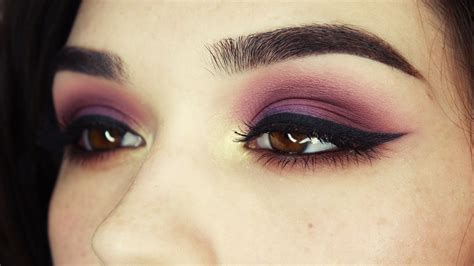 eyeshadow tutorial watch me purple gold brown eye makeup tutorial youtube
