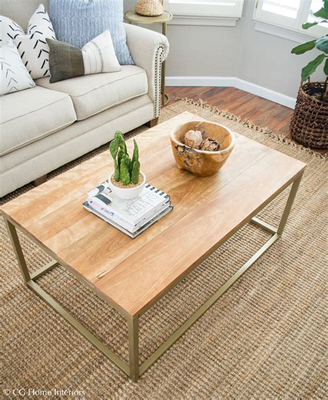 gold and wood coffee table diy gold and wood coffee table