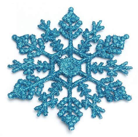 12pcs bulk glitter snowflake christmas ornaments xmas tree