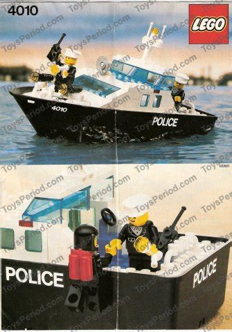 lego rescue boat lego 4010 police rescue boat set parts inventory and