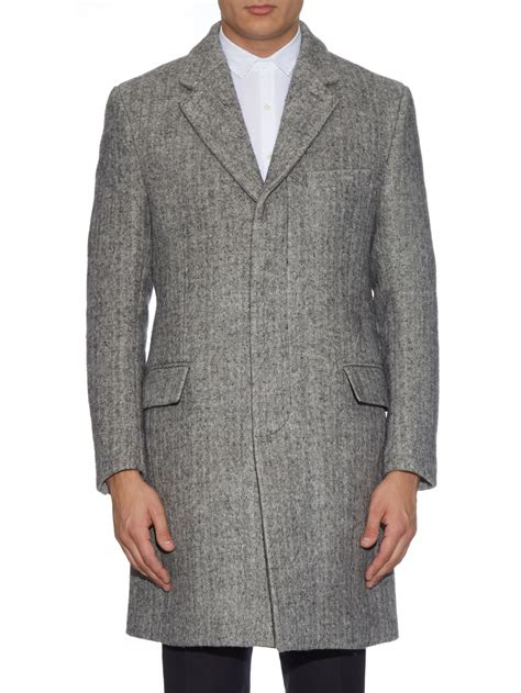 Original Salt And Pepper Shirt Kemeja Grey 3phoid raey single breasted salt and pepper chesterfield coat in gray for lyst