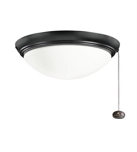 kichler 380020sbk basic low profile 2 light satin black