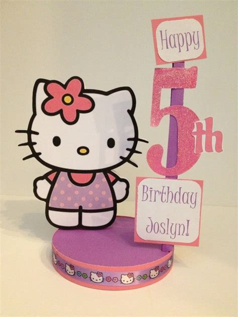 Hello Kitty Custom Birthday Party Centerpiece Hello Centerpiece Birthday