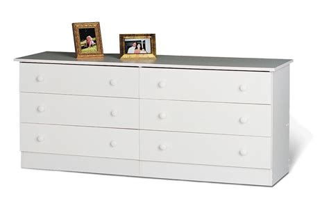 6 Drawer Dresser White by Prepac Sonoma White 59 Inch 6 Drawer Dresser Beyond Stores