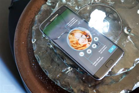 Faucet Water Fountain by Hey Look The Galaxy S7 Edge Sitting In A Watery Fountain