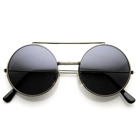 Retro Sunglasses retro vintage steunk flip up lens circle django