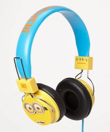 Earphone Minion despicable me yellow minion microphone dj headphones awesome yellow and look at