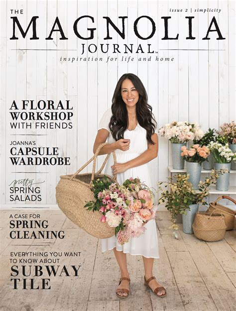 joanna gaines book chip and joanna gaines spring issue of their magazine