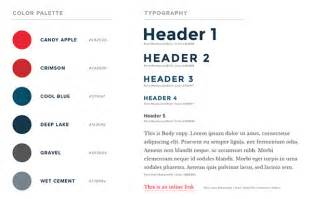 visual style guide template how to create a web design style guide designmodo