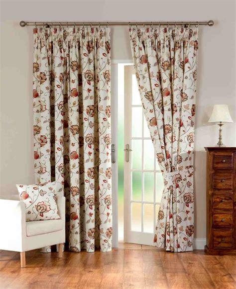 jacobean drapes jacobean print lined priced per pair net curtain 2 curtains
