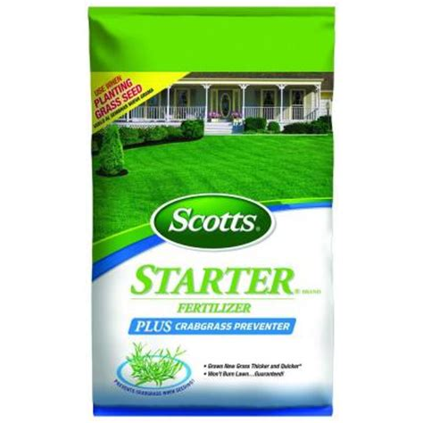 5 000 sq ft starter fertilizer plus crabgrass preventer