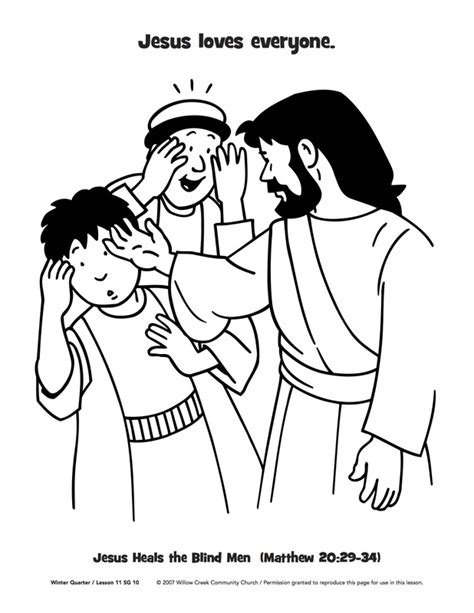 free coloring pages of blind bartimaeus