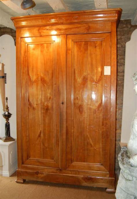 cherry wood armoire wardrobe french cherry wood armoire wardrobe circa 1840 186259