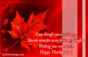 missing you on thanksgiving free ecards greeting cards 123 greetings