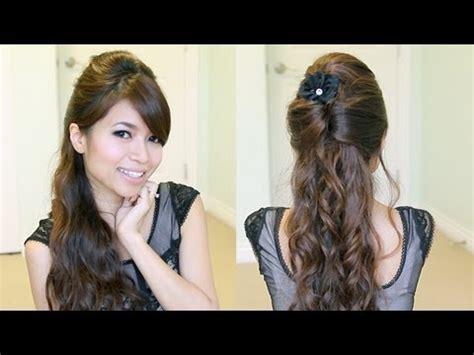 diy hairstyles bebexo half up half down wedding hair