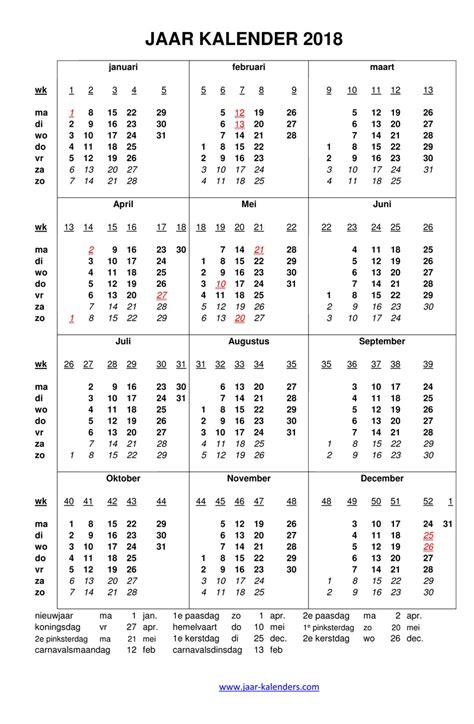 Calendar 2018 Uw Calendar 2018 Uw Takvim Kalender Hd