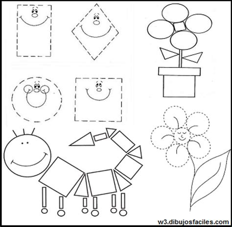 imagenes de niños jugando con figuras geometricas dibujos con figuras geometricas faciles imagenes para