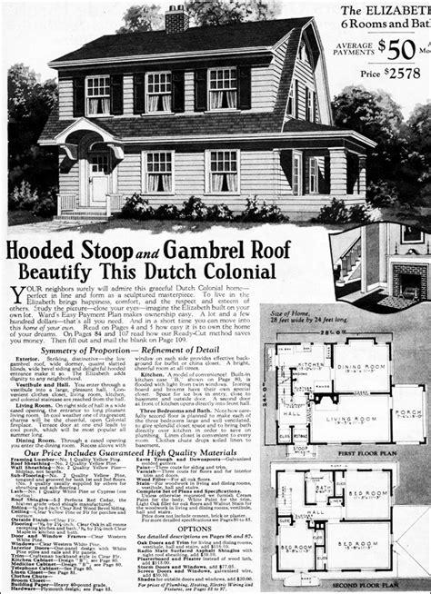 1930 Dutch Colonial Revival Elizabeth Montgomery Ward Montgomery Ward House Plans