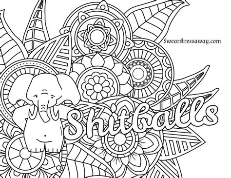 coloring pages for adults words free printable coloring page shitballs swear word