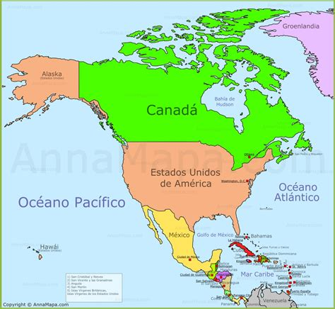 mapa de america paises mapa politico de america con todos los paises world maps