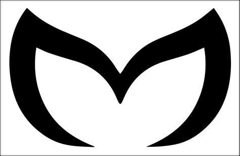 mazda m logo mazda evil m sticker decal 6 wide x 4 high